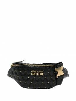 Versace Jeans Couture quilted studded belt bag E1VWABQ671881