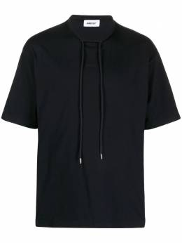 Ambush drawstring-collar short-sleeve T-shirt BMAA018S21JER0011010