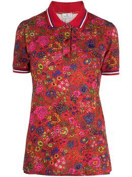 Etro рубашка поло с цветочным принтом 145129486
