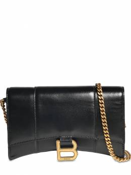 Leather Hour Wallet W/chain Balenciaga 73IWD2036-MTAwMA2