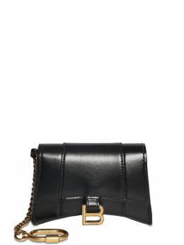 Leather Hour Card Case W/chain Balenciaga 73IWD2032-MTAwMA2