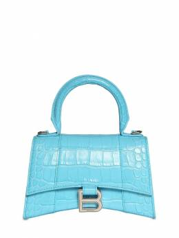 Xs Hourglass Croc Embossed Leather Bag Balenciaga 73IWD2018-NDgwNQ2