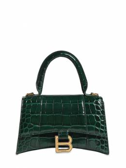 Xs Hourglass Croc Embossed Leather Bag Balenciaga 73IWD2016-MzAxMQ2