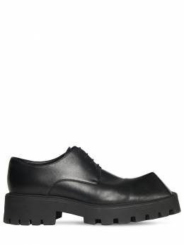 50mm Rhino Leather Derby Shoes Balenciaga 73IROW010-MTAwMA2