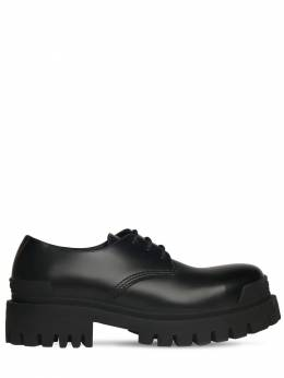 Strike Leather Derby Shoes Balenciaga 73IROW008-MTAwMA2