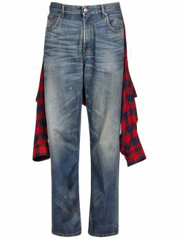 Tied-up Cotton Indigo Denim Jeans Balenciaga 73IROV032-NDkxNQ2