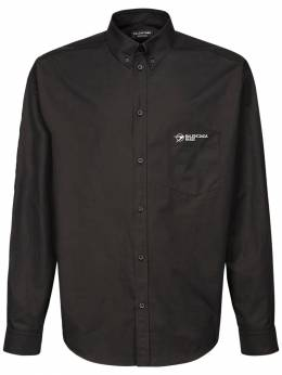 Logo Cotton Blend Shirt Balenciaga 73IROV014-MTAwMA2