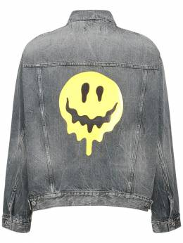 Logo Smile Japanese Cotton Denim Jacket Balenciaga 73IROV008-MTA5MA2