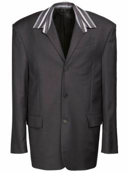 Tailored Wool Shirt Jacket Balenciaga 73IROV003-MTE0MA2