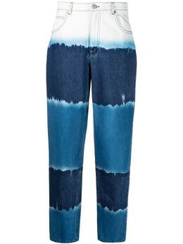 Alberta Ferretti зауженные джинсы с принтом тай-дай J03300182