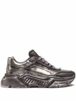 Dolce&Gabbana metallic-effect lace-up sneakers CK1791AW922
