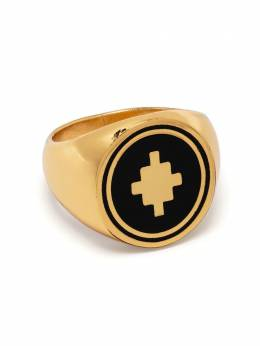 Marcelo Burlon County Of Milan CROSS RING GOLD BLACK CMOC006S21MET0017610