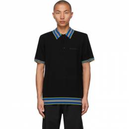 Burberry Black Icon Stripe Polo 8038178