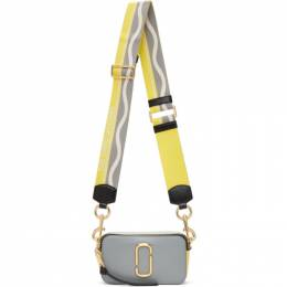 Marc Jacobs Grey and Yellow The Snapshot Bag M0012007