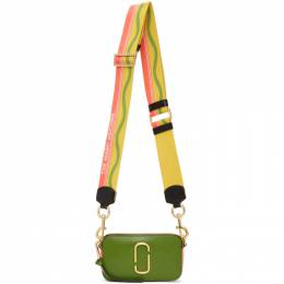 Marc Jacobs Green and Yellow The Snapshot Bag M0012007