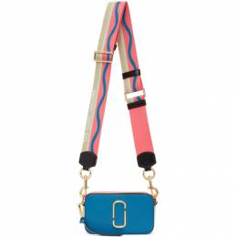 Marc Jacobs Blue and Pink The Snapshot Bag M0012007