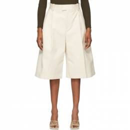 Bottega Veneta Off-White Twill Wide-Leg Shorts 651652 V0BS0