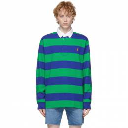 Polo Ralph Lauren Navy and Green Iconic Rugby Polo 710717116025