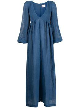 Lisa Marie Fernandez платье макси с V-образным вырезом 2021RES342MBOG