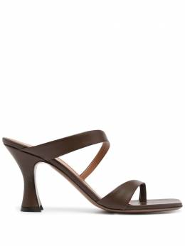 Neous square-toe heeled pumps SIKACHOCOLATE