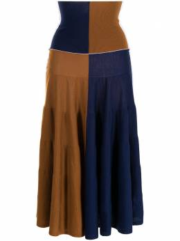 Marni юбка в стиле колор-блок с завышенной талией GOMD0051Q0UFW6B5