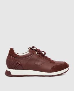 Бордовые кроссовки Stefano Ricci 2300006665837