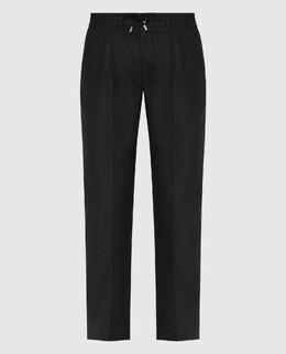 Черные брюки из льна Stefano Ricci 2300006665028