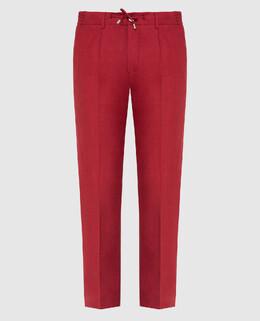 Красные брюки из льна Stefano Ricci 2300006664984
