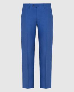 Синие брюки из льна Stefano Ricci 2300006666803