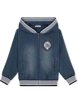 Dolce & Gabbana Kids куртка с вышивкой L4JW7WG7YDZ