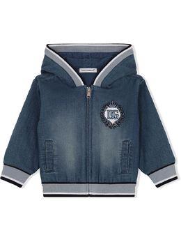 Dolce & Gabbana Kids джинсовое худи с вышитым логотипом L1JW1HG7YDZ