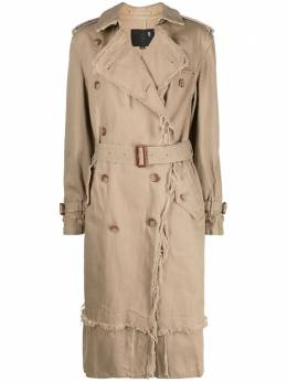 R13 double-breasted belted trench coat R13W9377