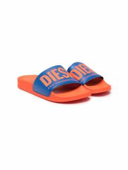 Diesel Kids шлепанцы с логотипом BY0517P3863B
