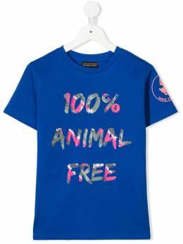 Save The Duck Kids slogan print short-sleeve T-shirt JT0182XJESY12