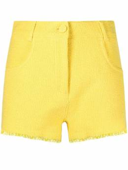 MSGM fringed-edge tweed shorts 3042MDB102X217306