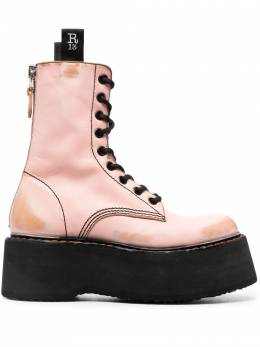 R13 Double Stack lace-up leather boots R13S0019