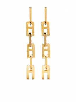 Ambush A chain-link earrings BWOD008S21MET0027600