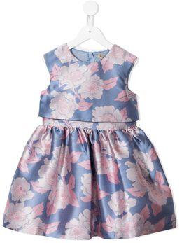 Hucklebones London платье без рукавов с цветочным принтом SS21601