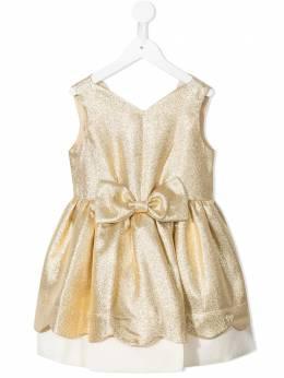 Hucklebones London платье с эффектом металлик и бантом SS21201