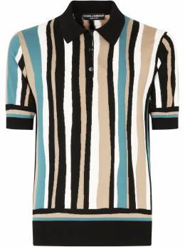 Dolce&Gabbana полосатая рубашка поло с короткими рукавами GXA69TJASMK