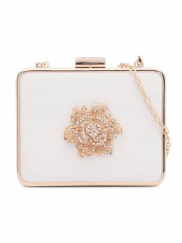 David Charles crystal floral-embellished shoulder bag 5608L