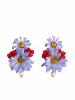 Dolce&Gabbana серьги-клипсы в виде цветов WEN4F2W1111