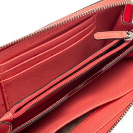 Michael Kors Pink Leather Zip Around Wristlet Wallet 397765