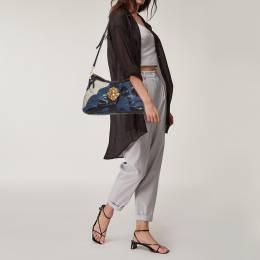 Miu Miu Multicolor Leather Crystal Embellished Colorblock Flap Shoulder Bag 396135