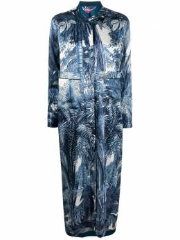 F.R.S For Restless Sleepers foliage print shirt maxi dress AB006665TE00539
