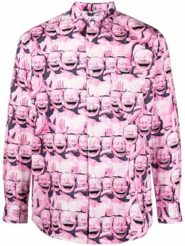 Comme Des Garcons Shirt graphic face print cotton shirt FGB040