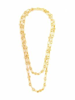 Tory Burch logo charm layered necklace 70564