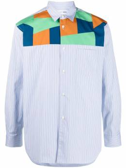 Comme Des Garcons Shirt patchwork stripe cotton shirt FGB020