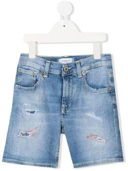 Dondup Kids джинсовые шорты с эффектом потертости DMBE300164WD012