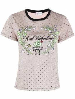 Red Valentino футболка с принтом vr3mg08x5pr